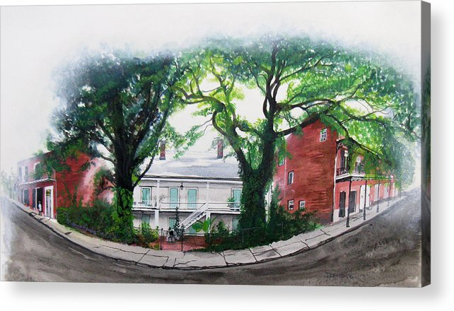 Street Scene Acrylic Print featuring the painting Old Portage Road House. by Tom Hefko