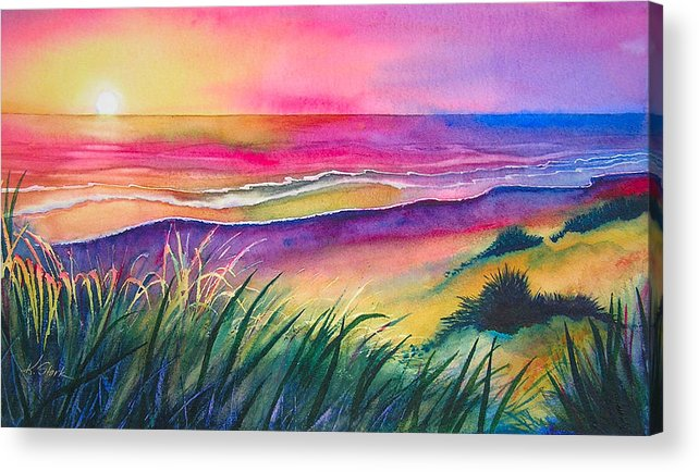 Pacific Acrylic Print featuring the painting Pacific Evening by Karen Stark