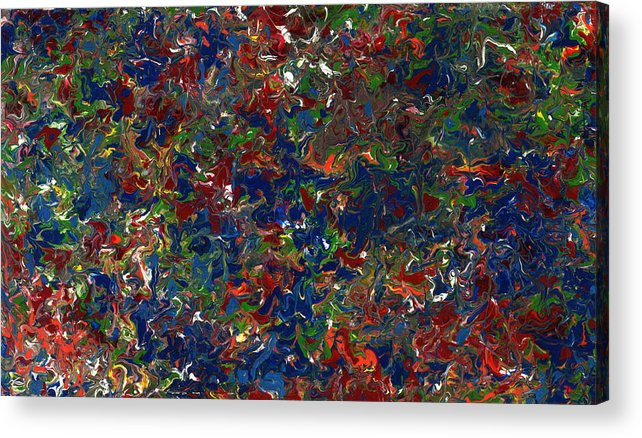Abstract Acrylic Print featuring the painting Paint Number 1 by James W Johnson