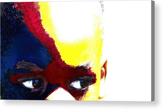 Acrylic Print featuring the photograph Painted Face 1 by LeeAnn Alexander
