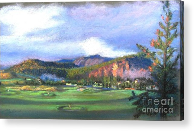 Landscape Acrylic Print featuring the painting Point Of View by Shirley Leswick