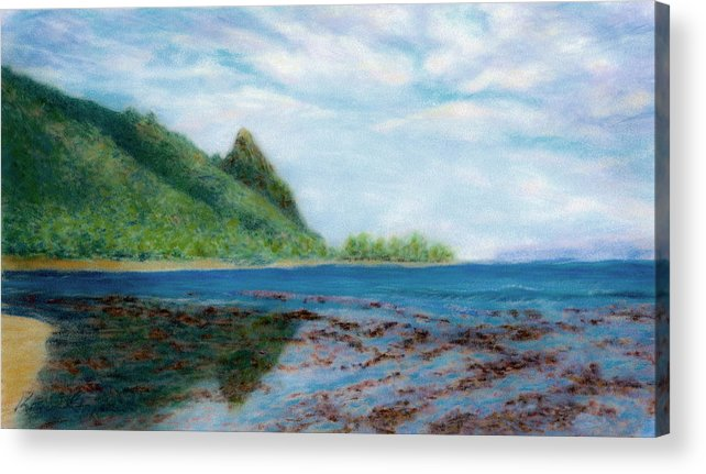 Rainbow Colors Pastel Acrylic Print featuring the painting Reef Walk by Kenneth Grzesik
