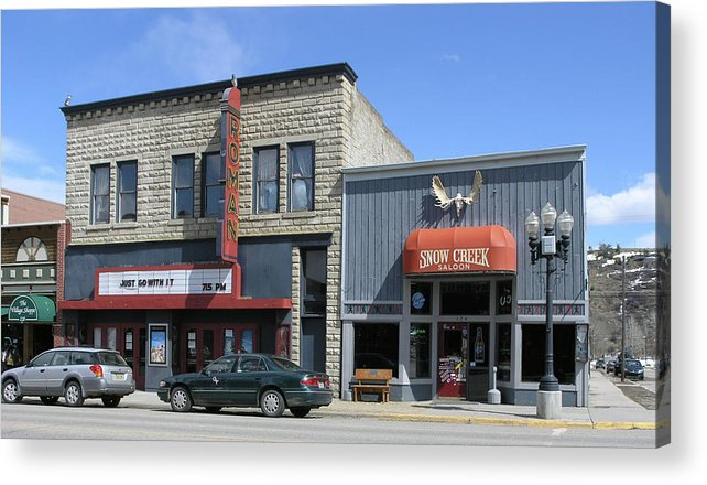 Red Lodge Acrylic Print featuring the photograph Snow Creek Saloon by Janis Beauchamp