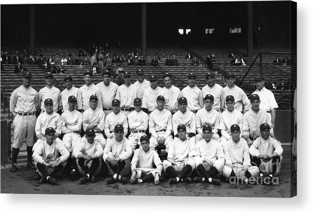 People Acrylic Print featuring the photograph New York Yankees by Transcendental Graphics