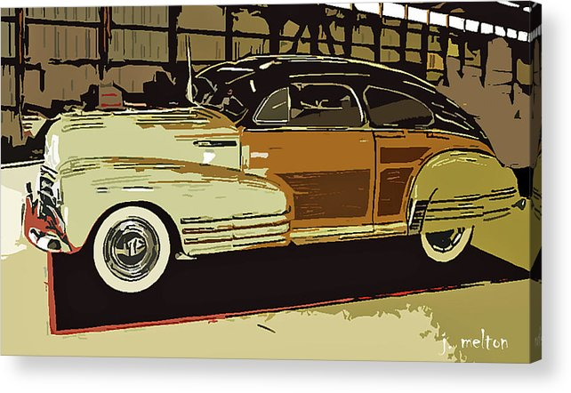 1948 Acrylic Print featuring the photograph '48 Chevy Cool by Jack Melton