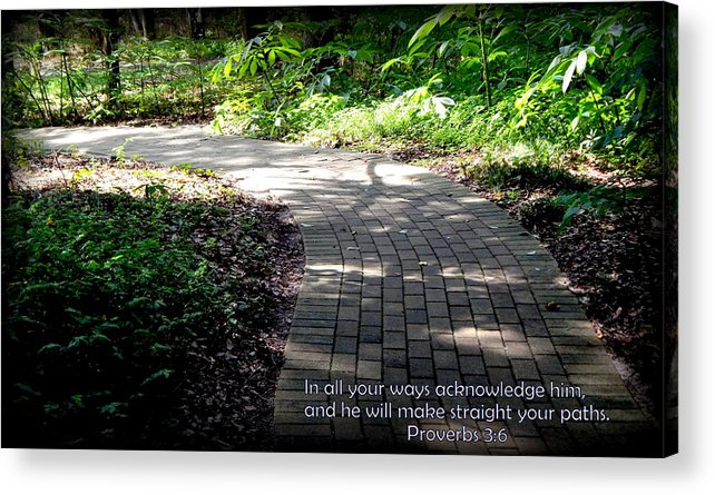 Christian Prints Acrylic Print featuring the photograph Brick Pathway by Lynn Griffin