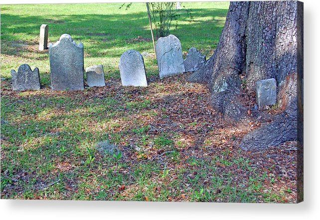 Grave Acrylic Print featuring the photograph The Headstones Of Slaves by Suzanne Gaff