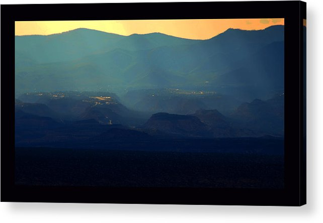 New Mexico Acrylic Print featuring the photograph Blue Desert by Susanne Still