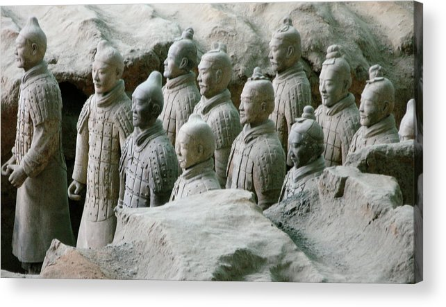 Terracotta Army Acrylic Print featuring the photograph Terracotta Army Xi'an by Jessica Estrada
