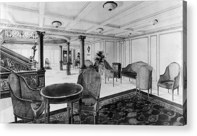 1910s Acrylic Print featuring the photograph The Restaurant Reception Room by Everett