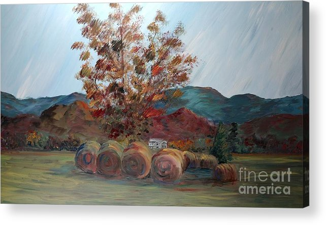 Autumn Acrylic Print featuring the painting Arkansas Autumn by Nadine Rippelmeyer