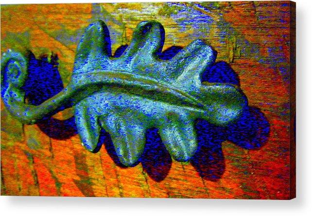 Acrylic Print featuring the photograph Blue Shadow by Mildred Ann Utroska    Mauk