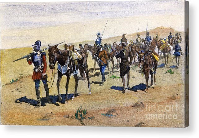 1540 Acrylic Print featuring the painting Coronados March, 1540 by Granger
