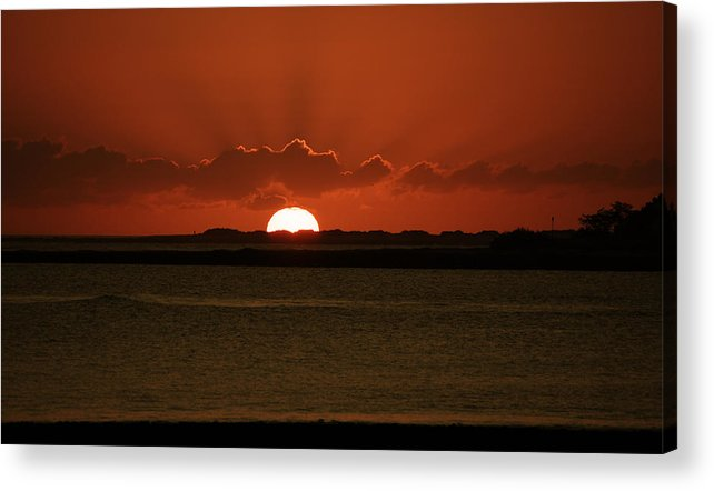 Sunset Acrylic Print featuring the photograph Corralejo Fuerteventura Sunset by Daren Griffin