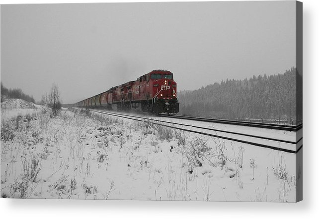 Transportation Acrylic Print featuring the photograph Cp Rail 2 by Stuart Turnbull