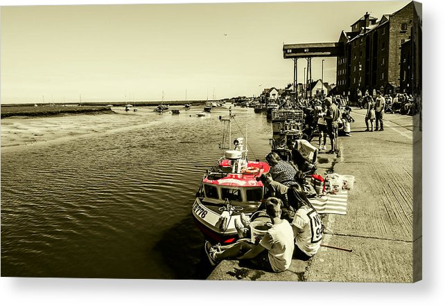 Boats Acrylic Print featuring the photograph Crabbing by Nick Bywater