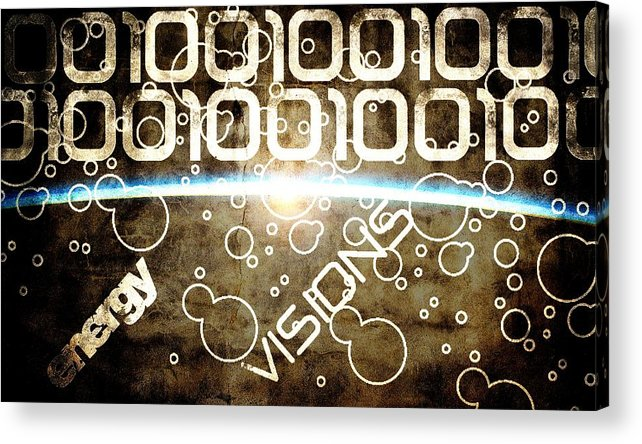 Energy Acrylic Print featuring the digital art Energy Visions by Andrea Barbieri