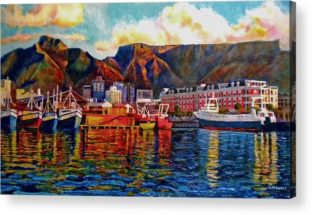 Seascape Acrylic Print featuring the painting Grace At The Table 2.0 by Dr Michael Durst