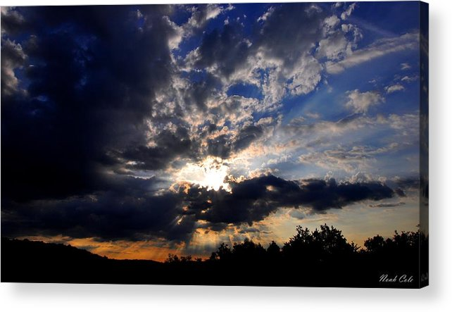 Sunrise Acrylic Print featuring the photograph Morning Sunrays by Noah Cole