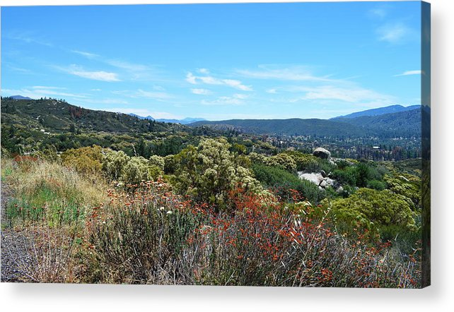Glenn Mccarthy Acrylic Print featuring the photograph Thomas Mountain And Garner Valley by Glenn McCarthy Art and Photography