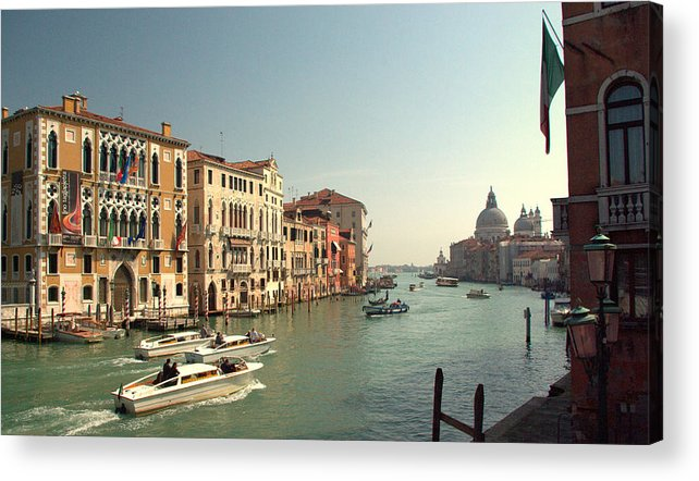 Grand Acrylic Print featuring the photograph Venice Grand Canal by Iain MacVinish