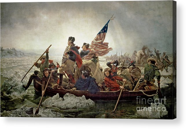 Washington Acrylic Print featuring the painting Washington Crossing The Delaware River by Emanuel Gottlieb Leutze