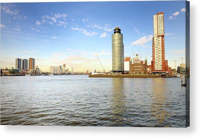 panorama of rotterdam the netherlands acrylic printpidjoe