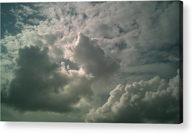 Cloud Acrylic Print featuring the photograph Trinity by Jeff Thomann