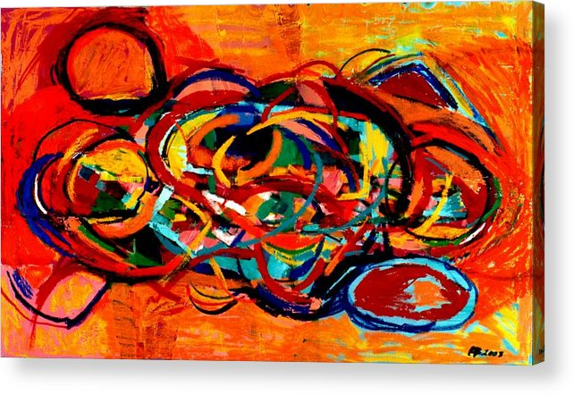 Abstract Acrylic Print featuring the painting Untitled 2 by Paul Freidin