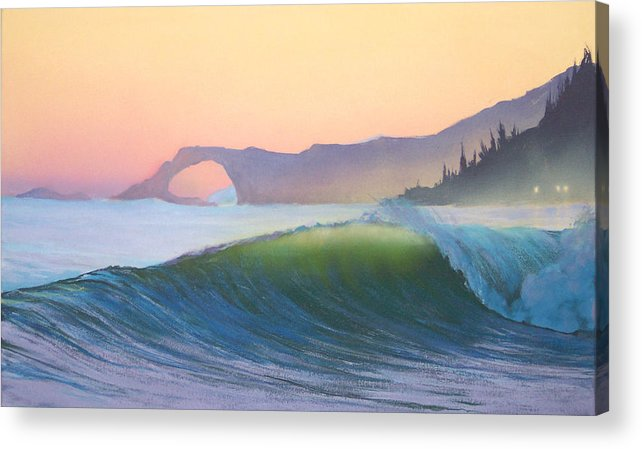 Ocean Acrylic Print featuring the painting Sunset Sonata by Philip Fleischer