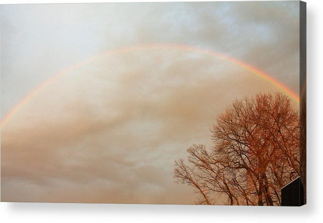 Rainbow Acrylic Print featuring the photograph After The Rain by Bette Bresette