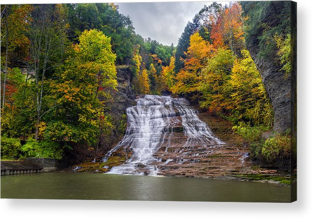 Waterfall Acrylic Print featuring the photograph Buttermilk Falls by Mark Papke