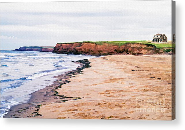 Prince Acrylic Print featuring the photograph Cousins Shore Prince Edward Island by Edward Fielding