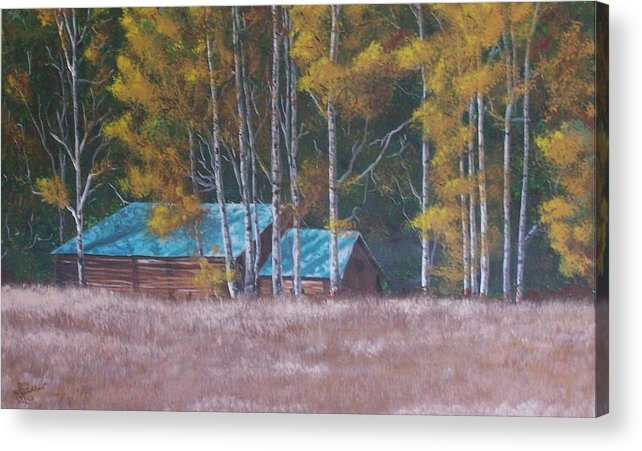 Landscape Acrylic Print featuring the painting Fall On The Ranch by Gene Ritchhart