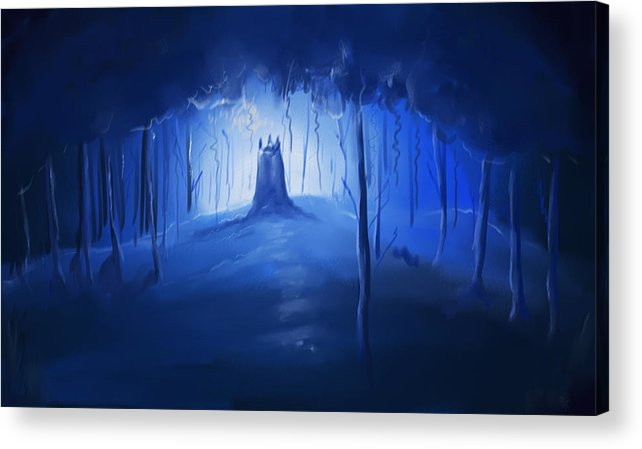 Forest Acrylic Print featuring the painting Forest by RK Salumuri