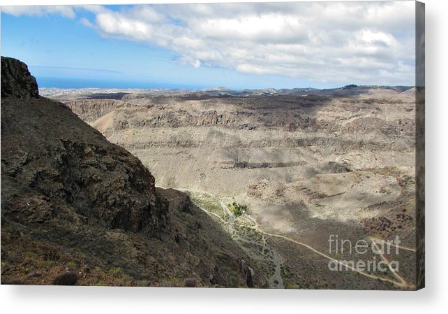 Amazing Colors Acrylic Print featuring the photograph Landscape-canarian Volcanic Mountains by Bozena Simeth