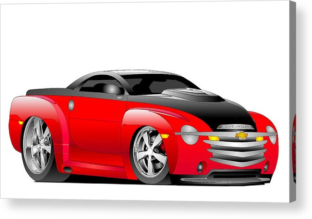 Chevrolet Acrylic Print featuring the digital art Ssr Toon by Lyle Brown