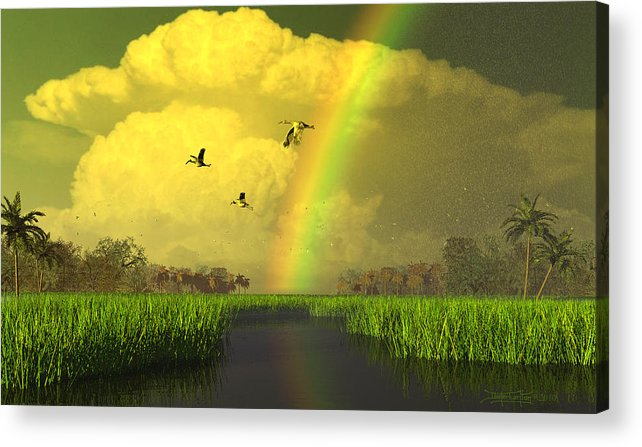 Florida Acrylic Print featuring the digital art The Gift Of Light by Dieter Carlton