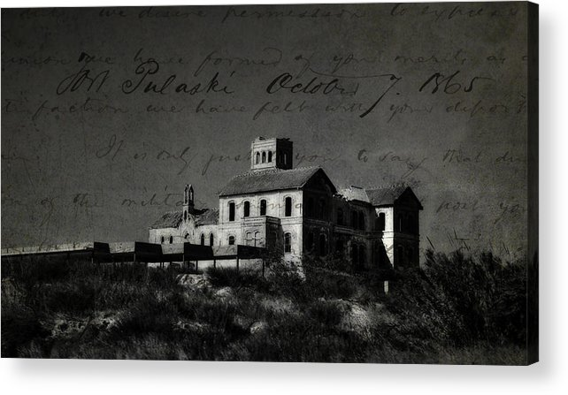 Spain Acrylic Print featuring the photograph The Most Haunted House In Spain. Casa Encantada. Welcome To The Hell by Jenny Rainbow