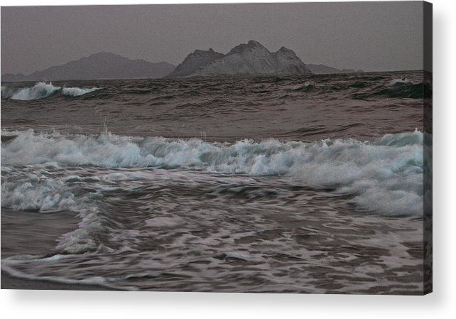 Abstract Acrylic Print featuring the photograph Abstract Kino Bay by David Resnikoff