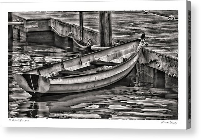 Boat Acrylic Print featuring the photograph Gloucester Dinghy by Richard Bean