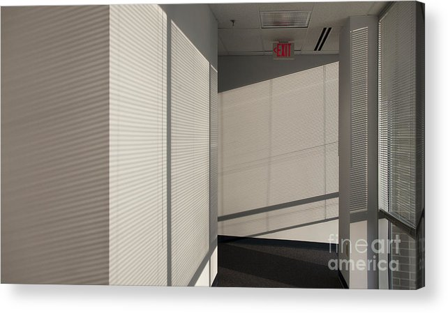 Airy Acrylic Print featuring the photograph Hallway Of An Office Building by Will & Deni McIntyre