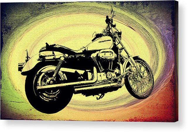 Vortex Acrylic Print featuring the photograph In The Vortex - Harley Davidson by Bill Cannon