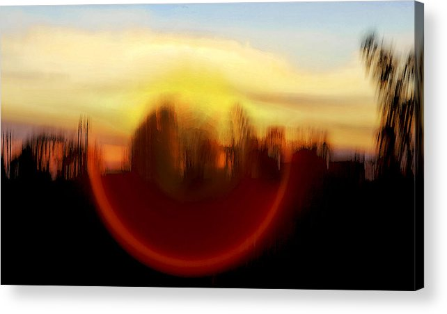 Interesting Acrylic Print featuring the photograph Mountain Eye by Kantilal Patel