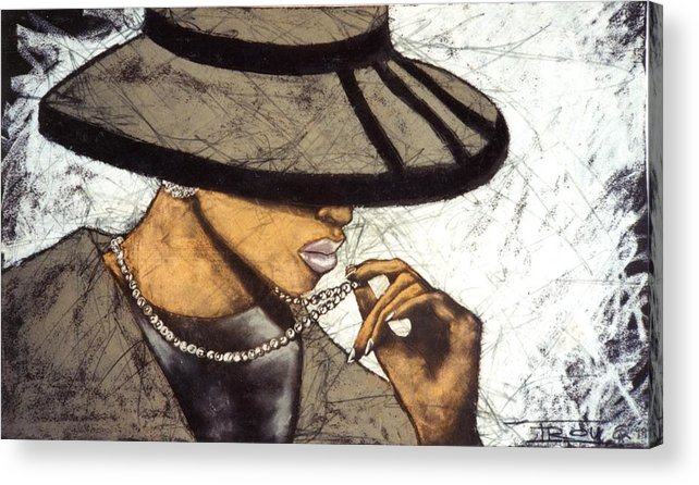 Hats Acrylic Print featuring the pastel My Sunday Hat 2 by Troy Hill