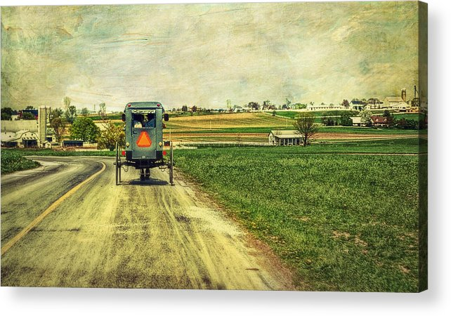 Amish Acrylic Print featuring the photograph Route 716 by Kathy Jennings