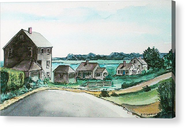 Houses Acrylic Print featuring the painting Third Cliff No. 2 by Robert Harvey