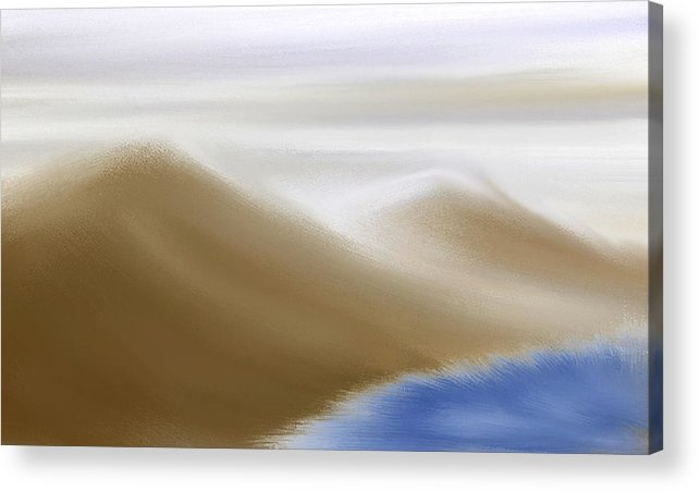 Original Acrylic Print featuring the painting Under A Winter Sky by Gina Lee Manley