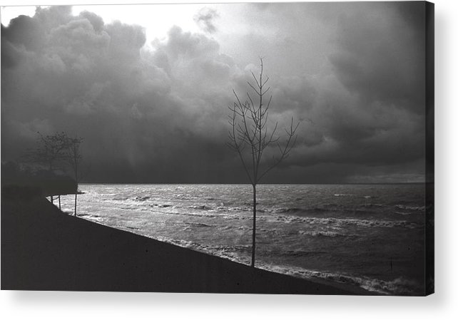 Lake Erie Acrylic Print featuring the photograph 091508-1 by Mike Davis