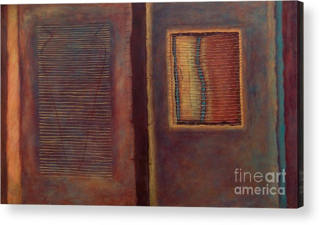 Connections Acrylic Print featuring the painting Parallels by Kerryn Madsen-Pietsch